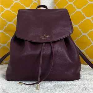 🌸OFFERS?🌸Kate Spade Leather Burgundy Backpack 🎒